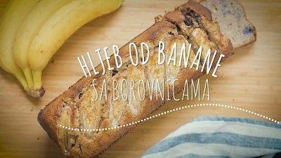 Hljeb od banane i borovnica
